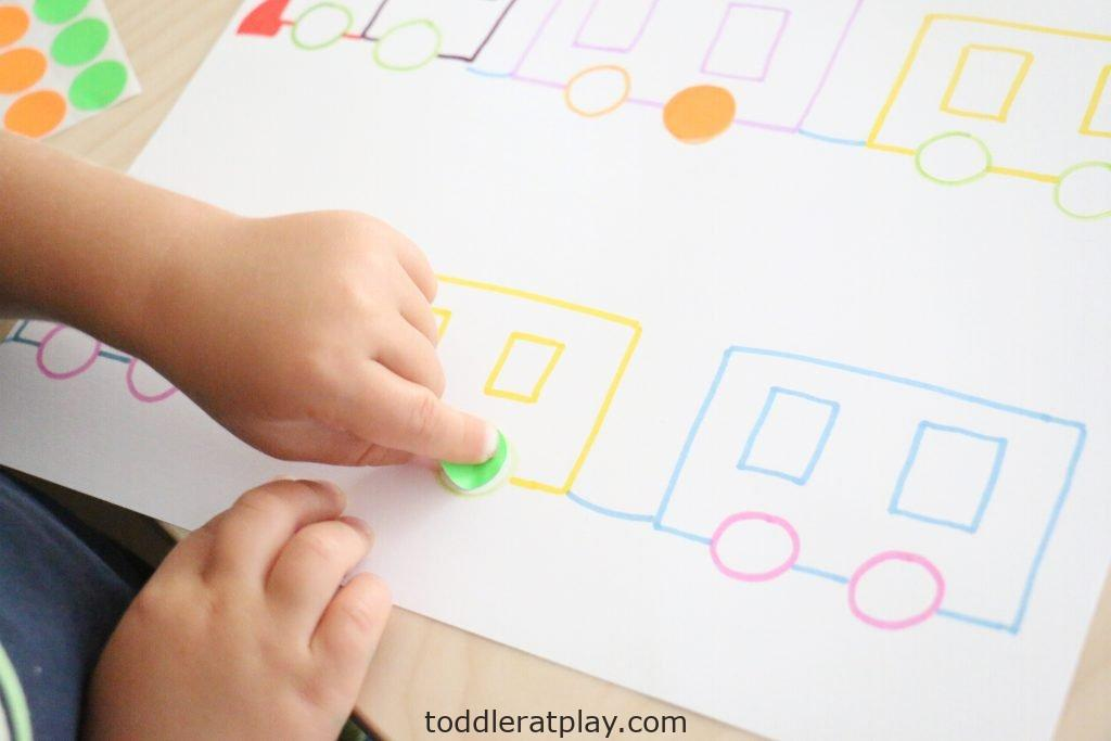 dot sticker train match- toddler at play (11)