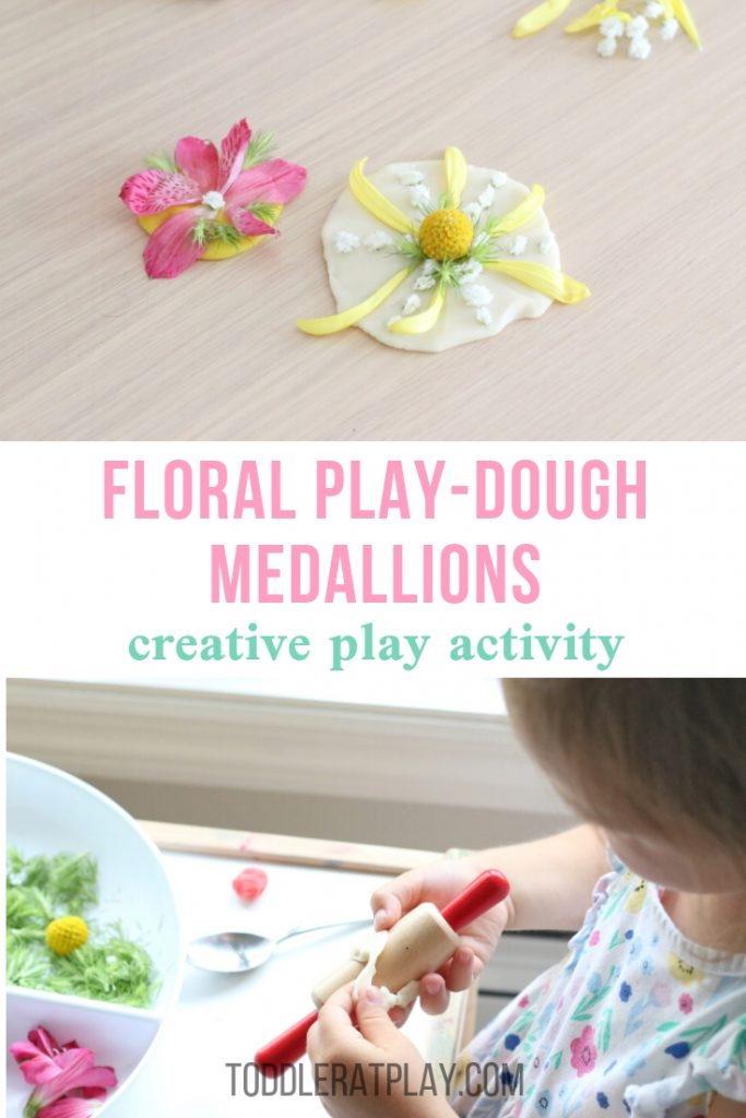 floral play-dough medallions- toddler at play (11)