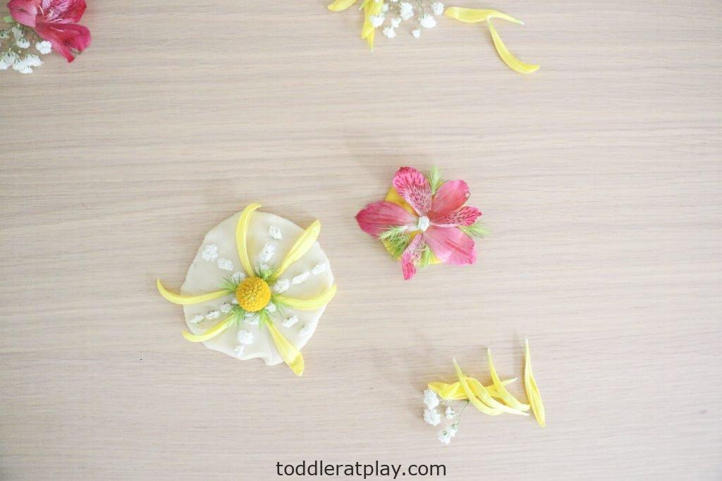 floral play-dough medallions- toddler at play (12)