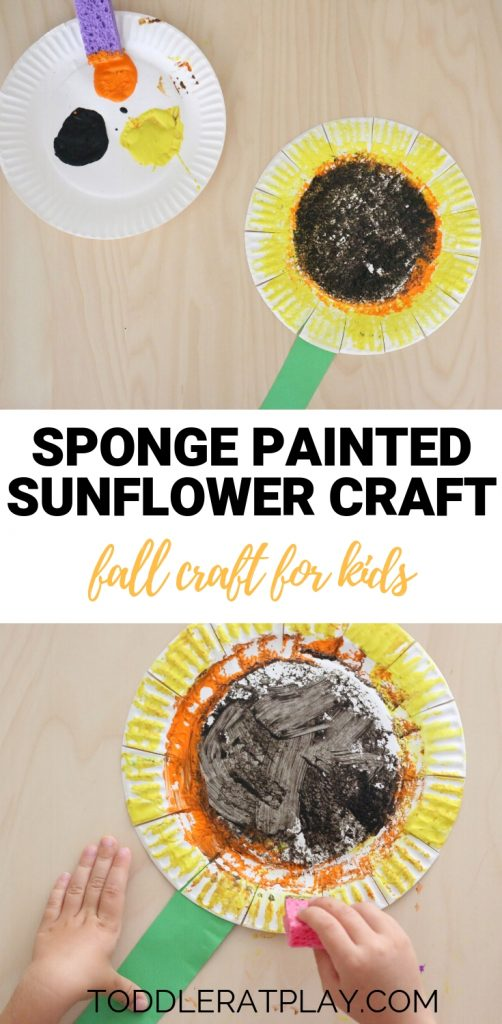 sponge painted sunflower- toddler at play (2)