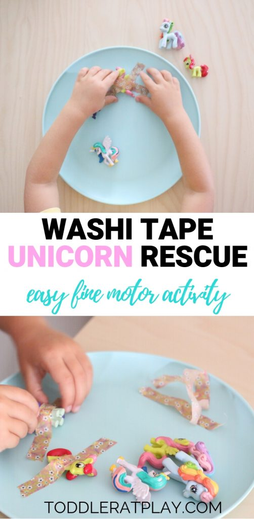 washi tape unicorn rescue- toddler at play (9)