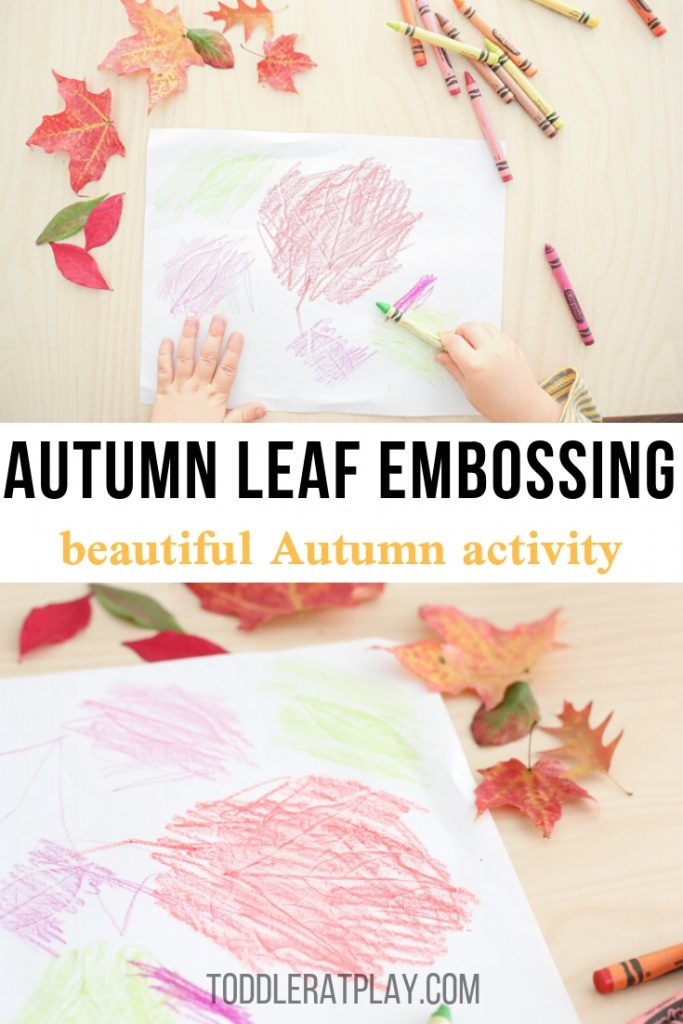 autumn leaf embossing- toddler at play (1)