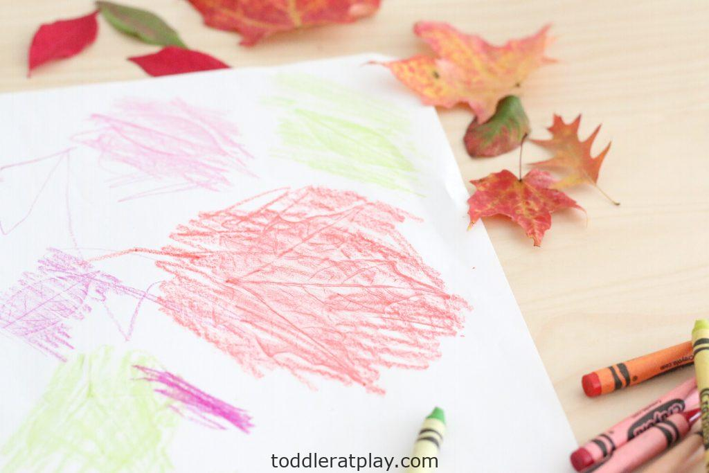 autumn leaf embossing- toddler at play (2)