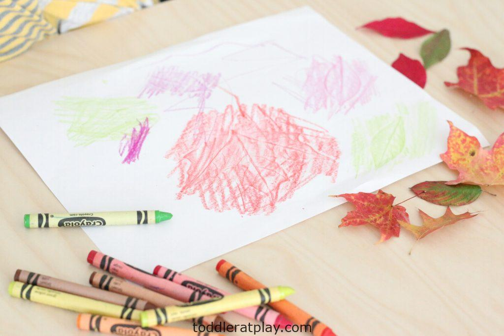 autumn leaf embossing- toddler at play (3)