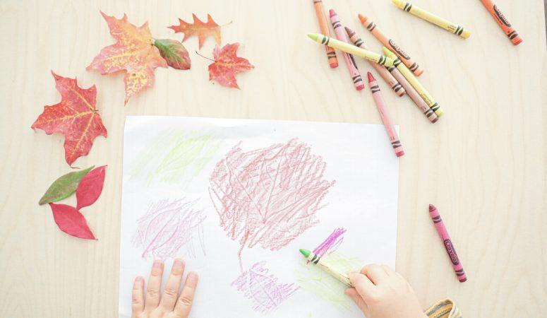 Autumn Leaf Embossing Activity