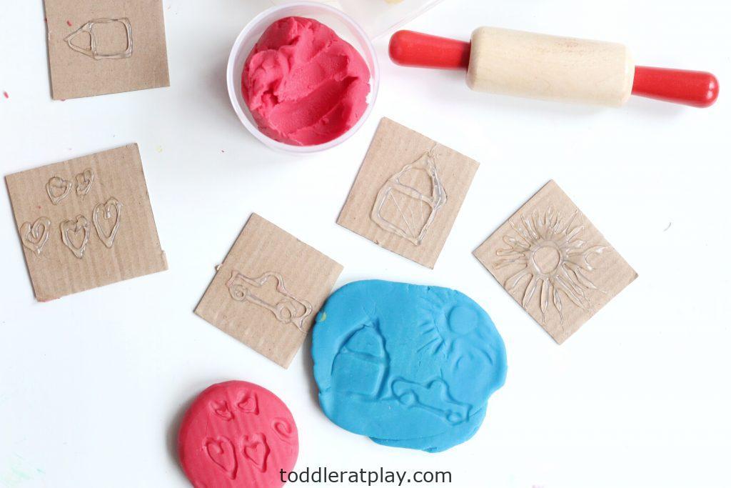 diy play-dough stamps- toddler at play (2)