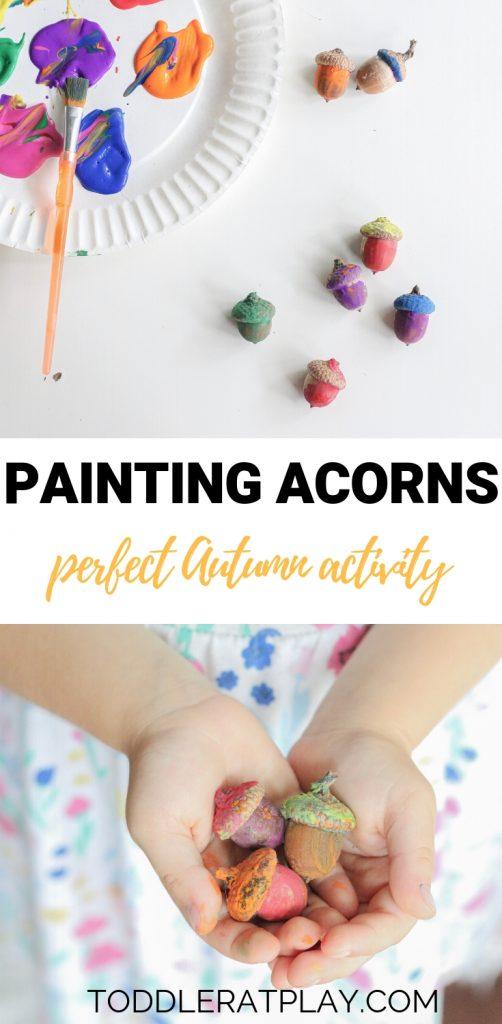 painting acorns- toddler at play (1)