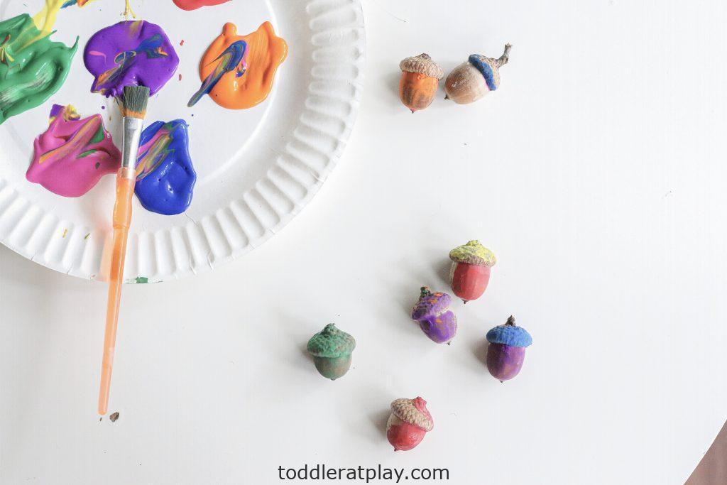 painting acorns- toddler at play (13)