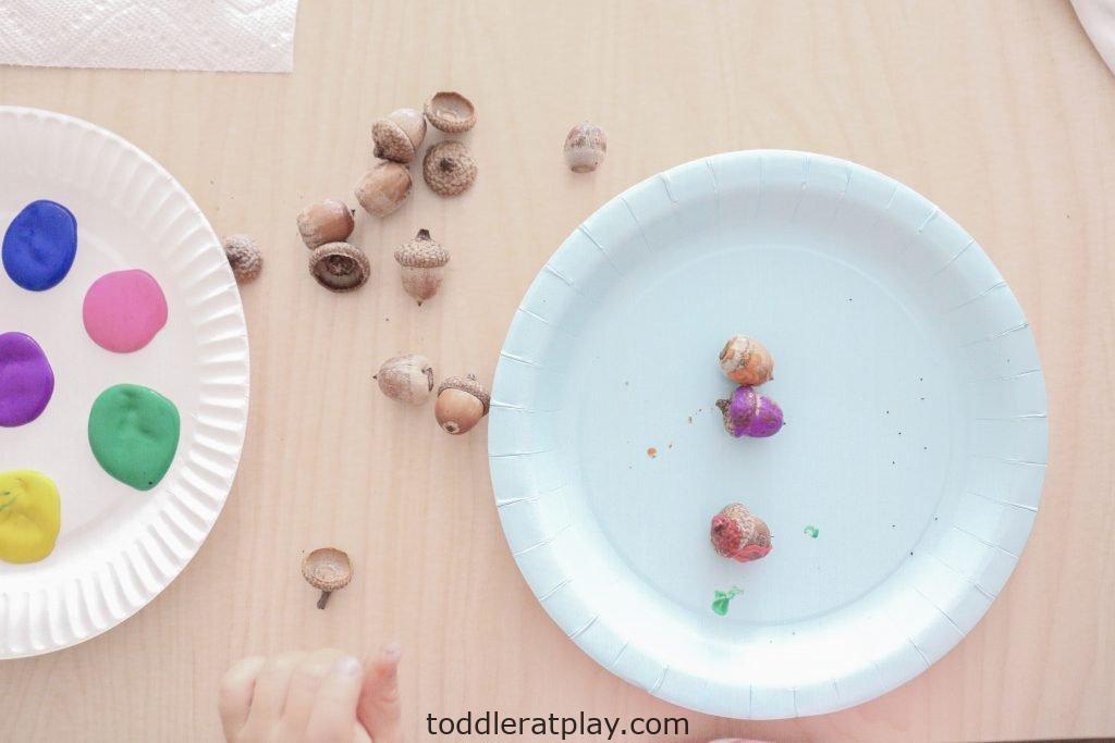 painting acorns- toddler at play (9)