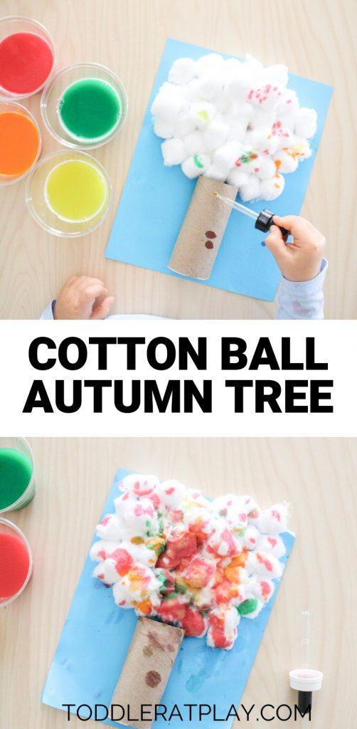 cotton ball autumn tree- toddler at play (7)