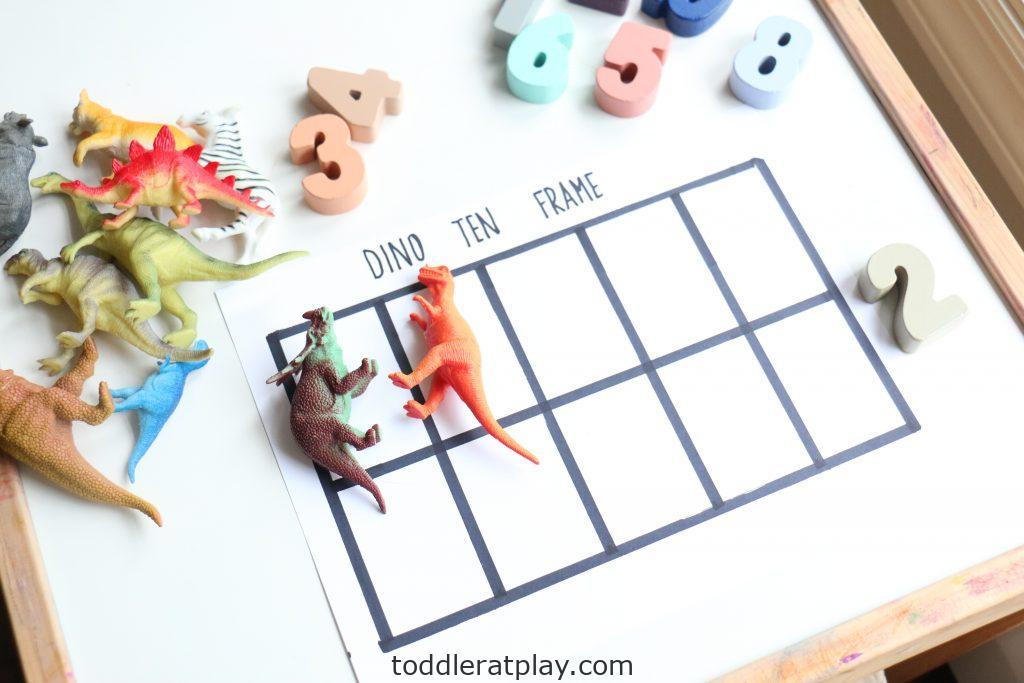 dino ten frame- toddler at play (10)