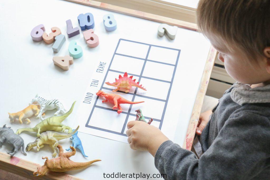 dino ten frame- toddler at play (8)