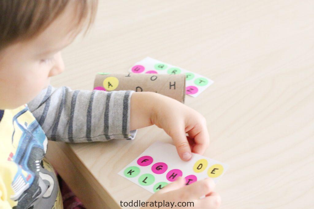 dot sticker alphabet match- toddler at play (7)