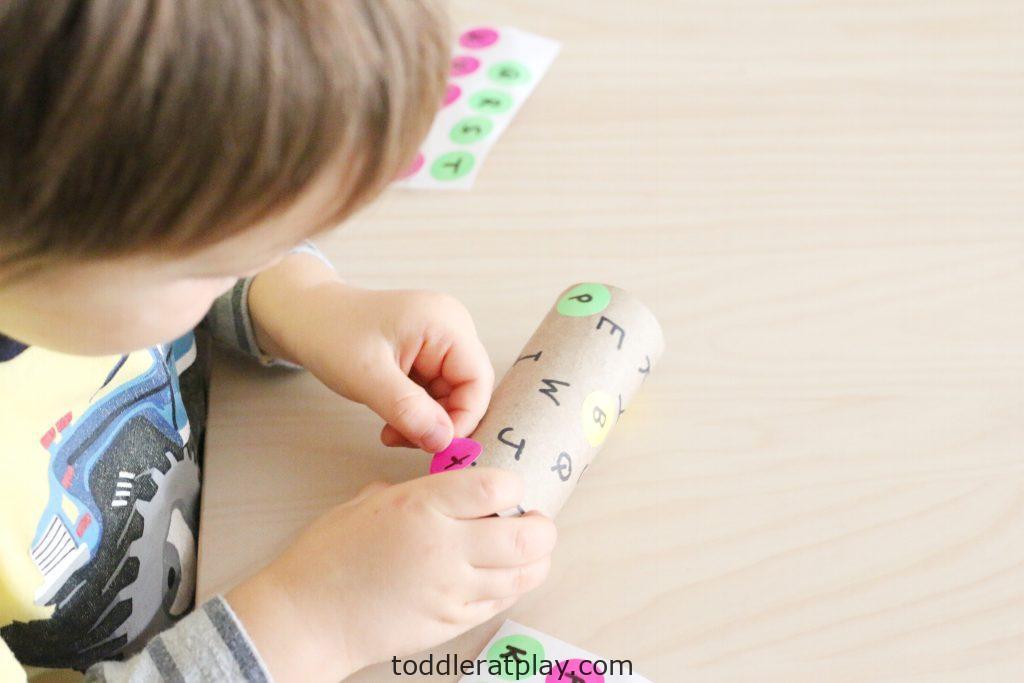 dot sticker alphabet match- toddler at play (8)