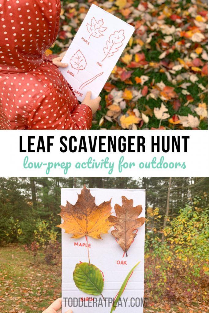 leaf scavenger hunt- toddler at play (1)