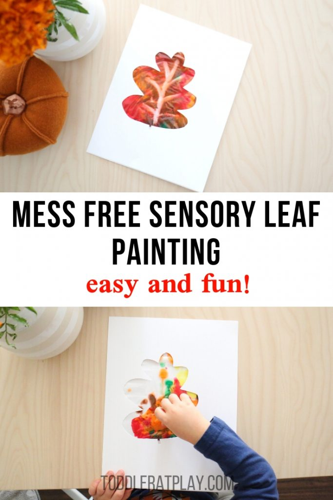 mess free sensory leaf painting- toddler at play (6)