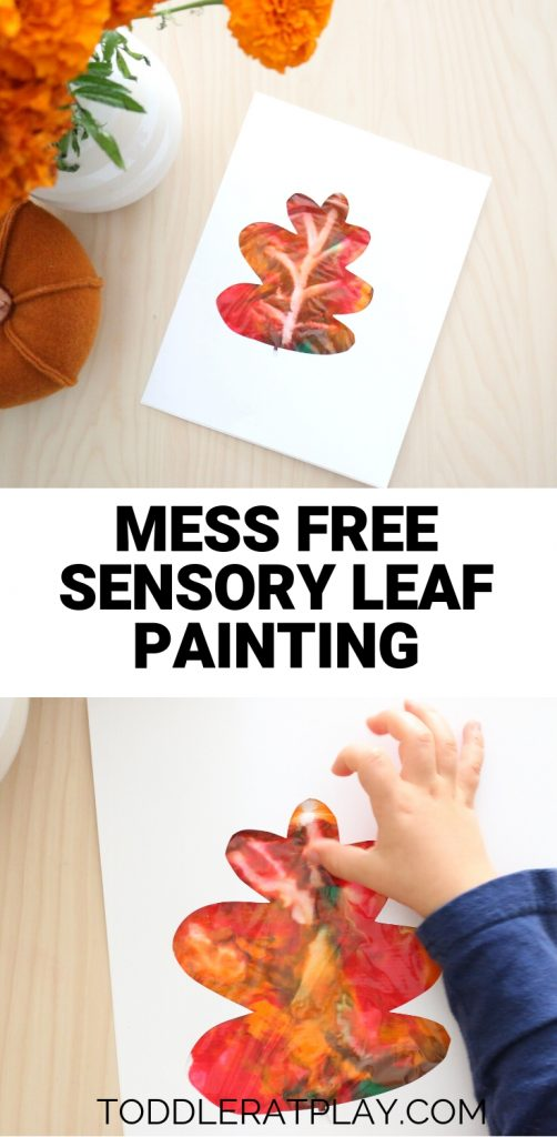 mess free sensory leaf painting- toddler at play (7)