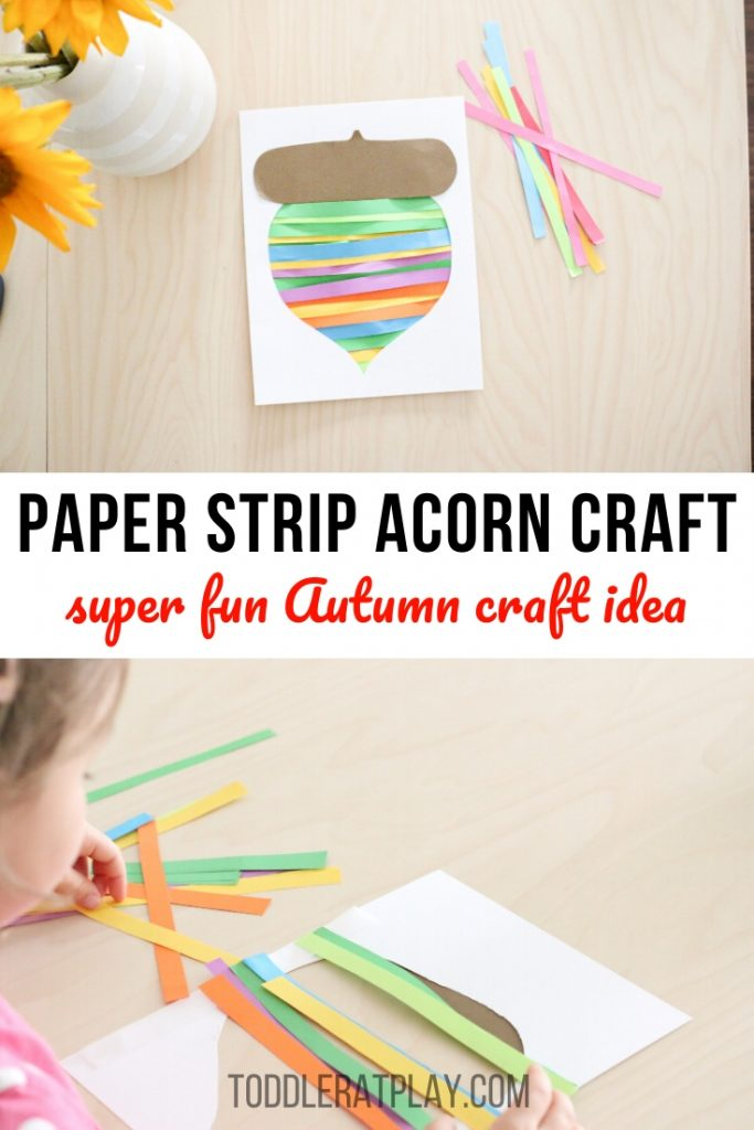 paper strip acorn craft- toddler at play (3)