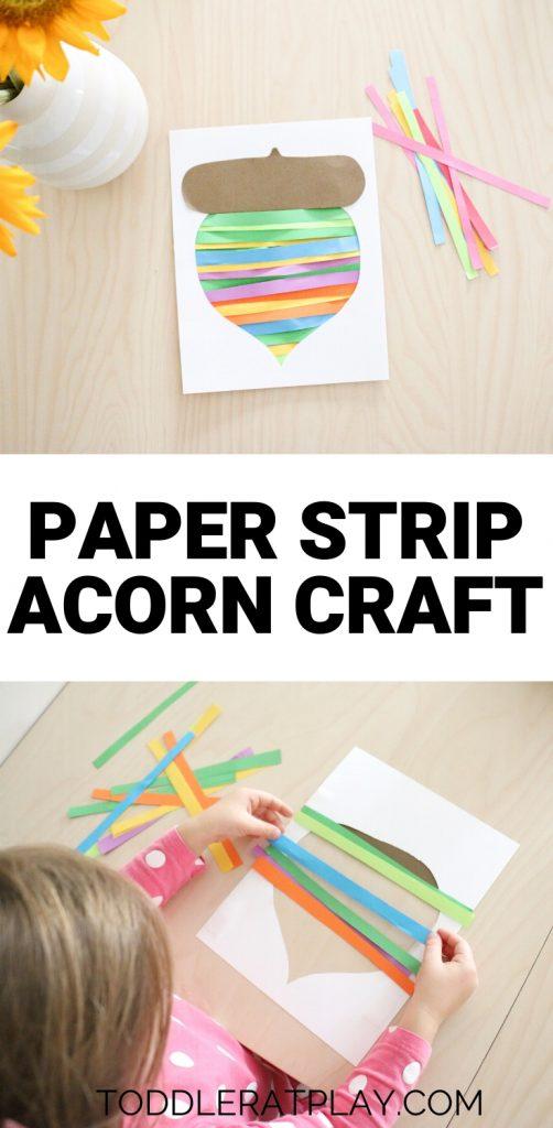 paper strip acorn craft- toddler at play (4)