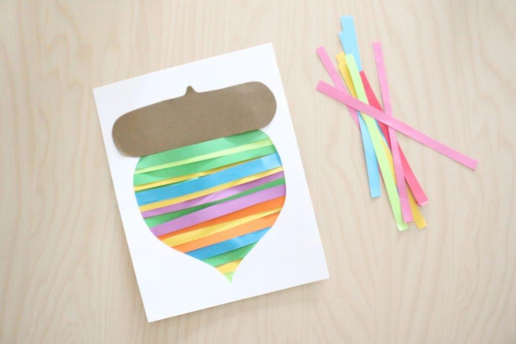 paper strip acorn craft- toddler at play (5)