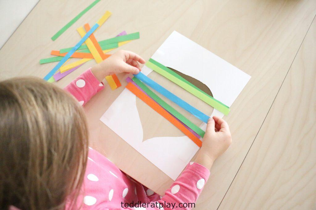 paper strip acorn craft- toddler at play (7)