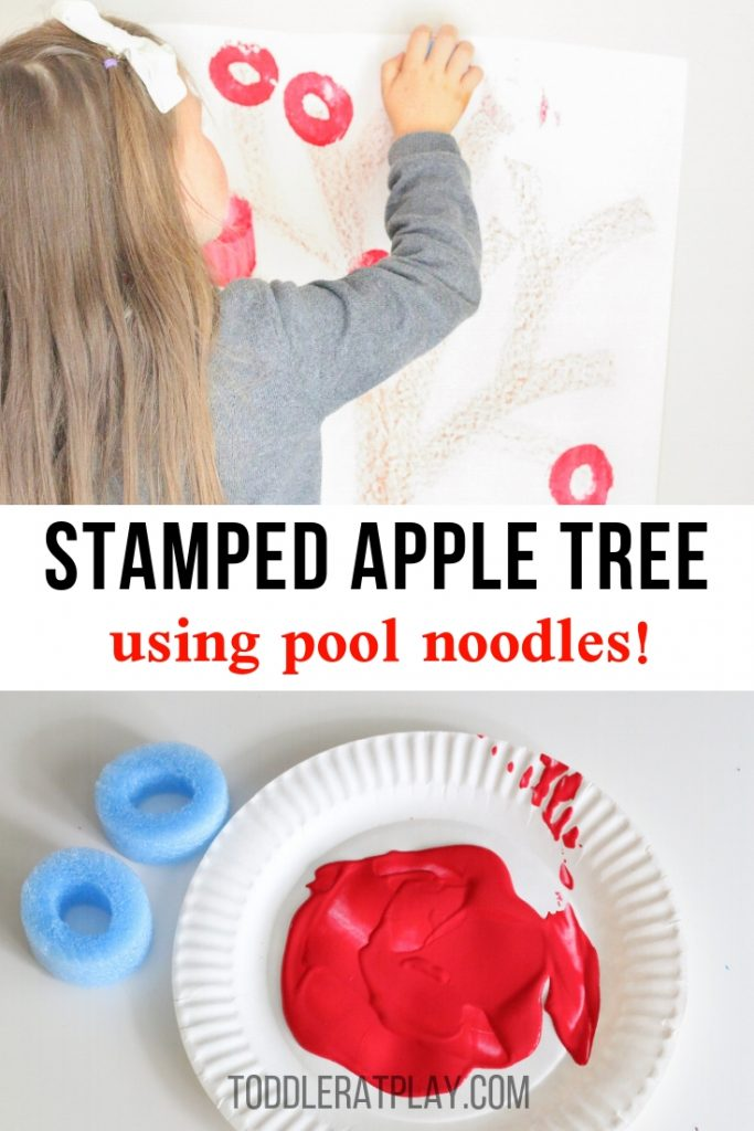 pool noodle stamped apple tree- toddler at play (2)