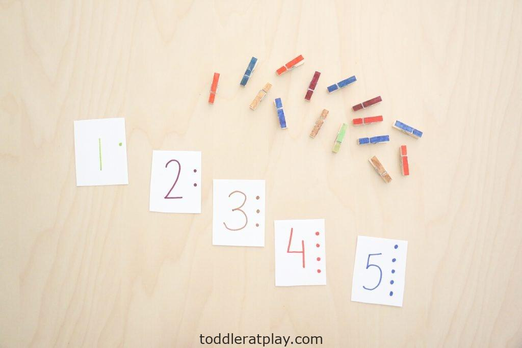 clothespin counting cards- toddler at play (5)