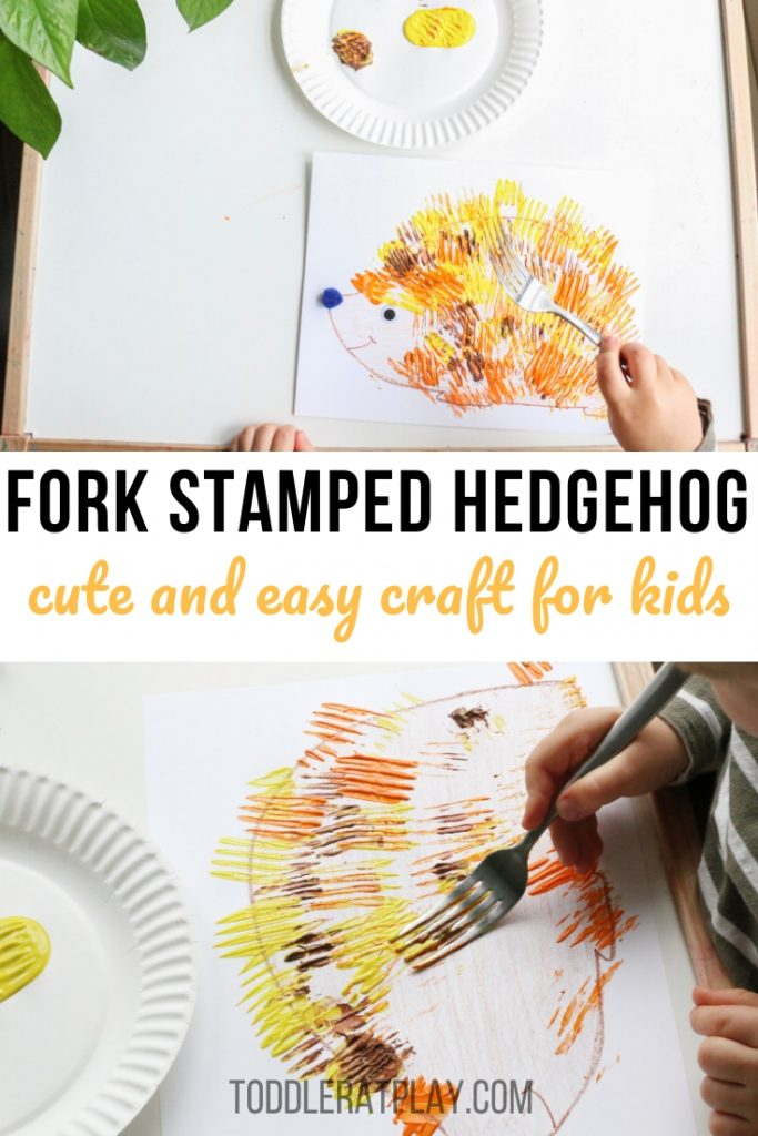 fork stamped hedgehog- toddler at play (1)
