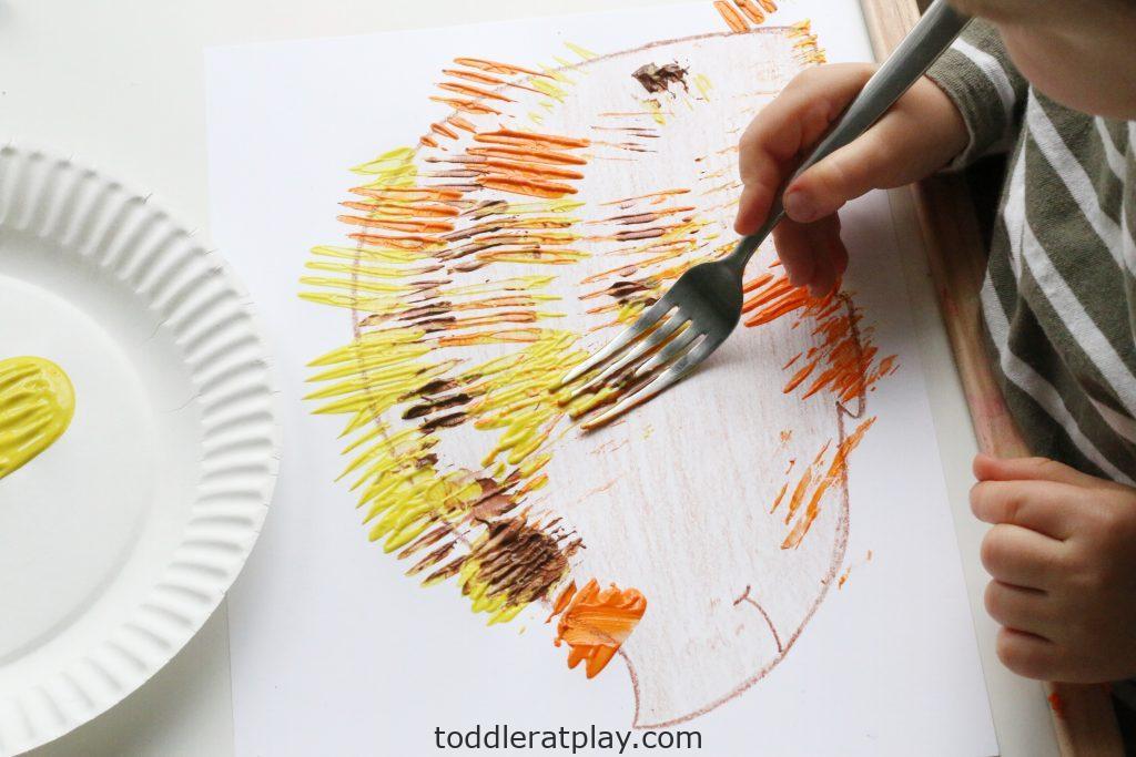 fork stamped hedgehog- toddler at play (16)