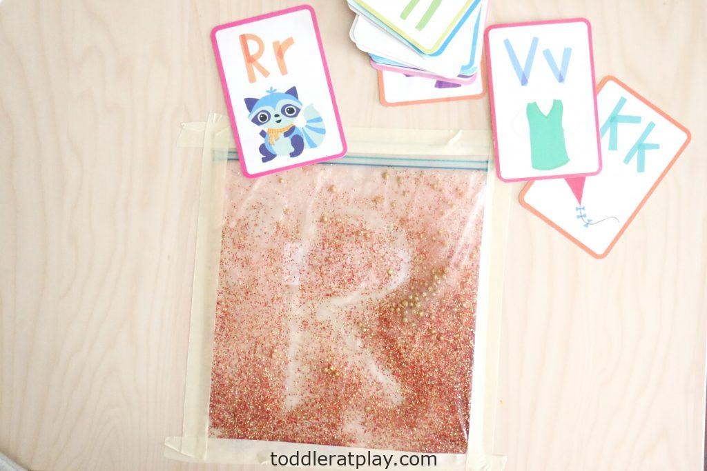 glitter sensory writing pad- toddler at play (12)