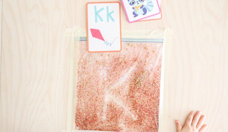 Glitter Sensory Writing Pad (Holiday Theme)