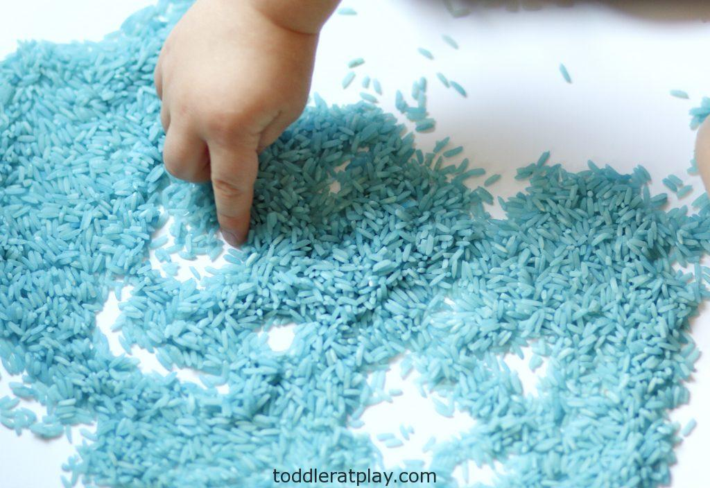 how to dye rice (2)