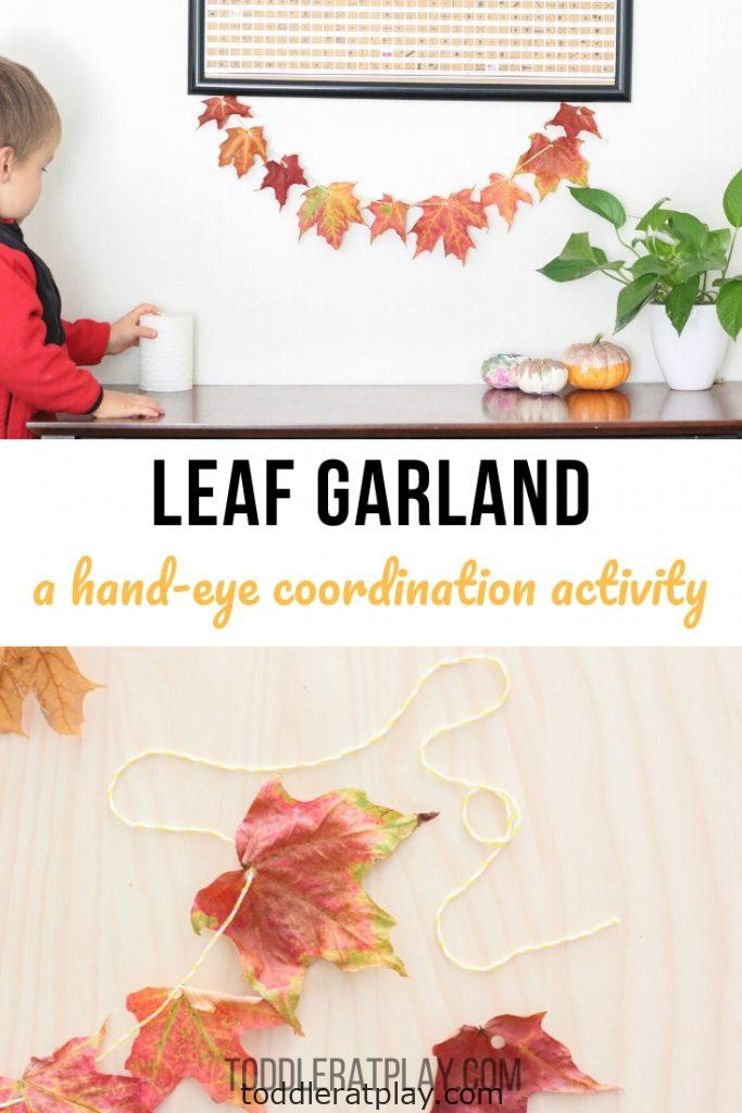 leaf garland- toddler at play (10)