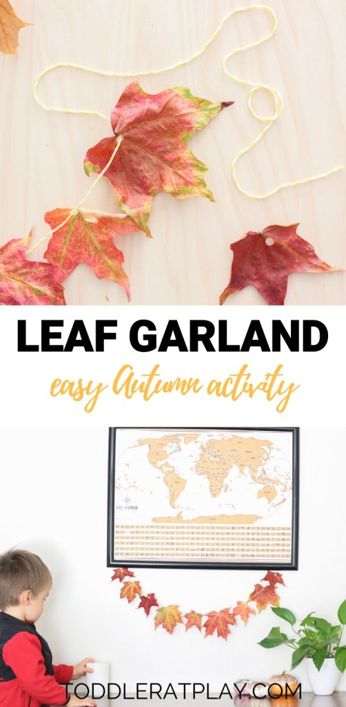 leaf garland- toddler at play (11)