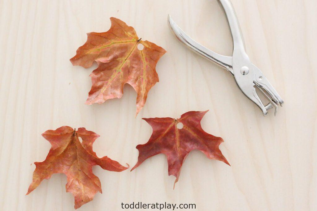 leaf garland- toddler at play (2)