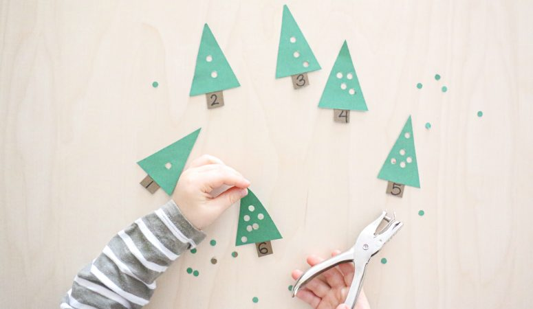 Christmas Tree Hole Punching Count