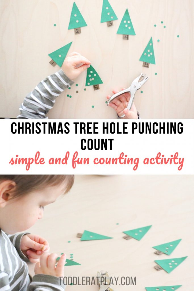 christmas tree hole punching activity- toddler at play (15)