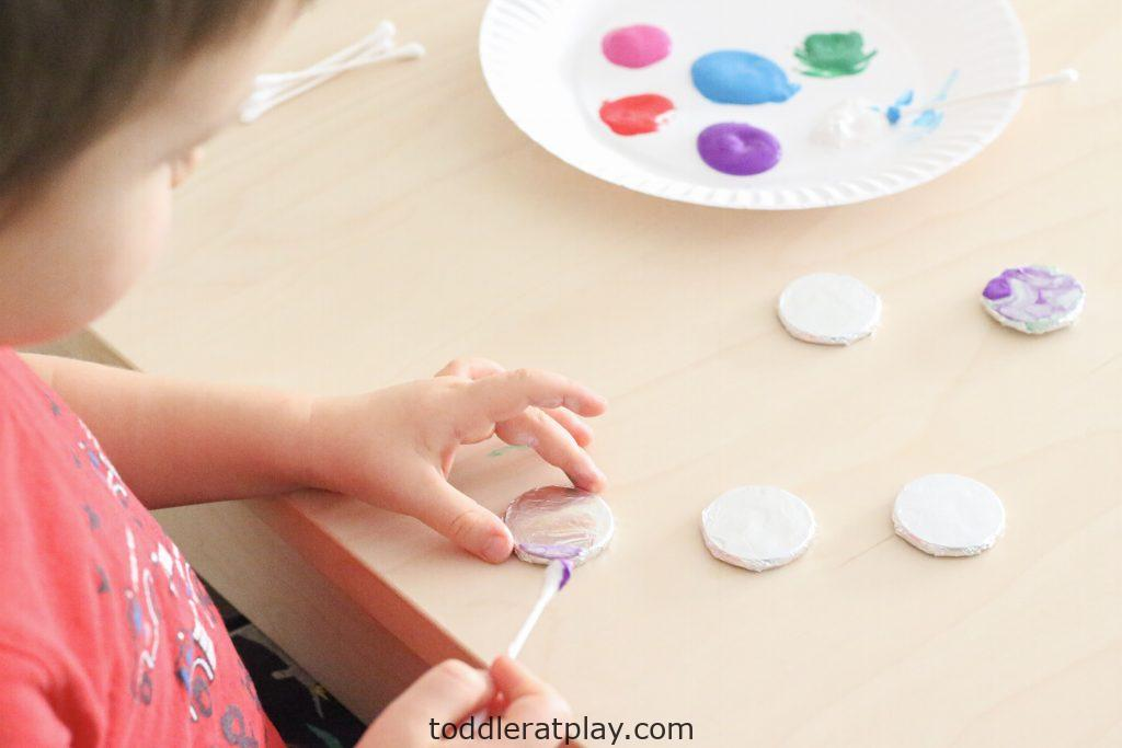 foil painted ornaments- toddler at play (14)
