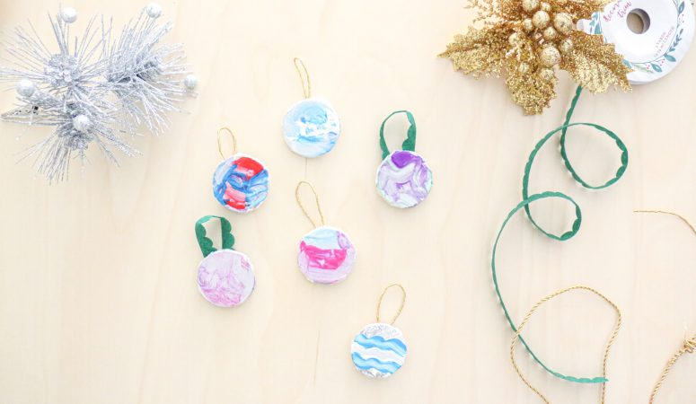 Foil Painted Ornaments Craft