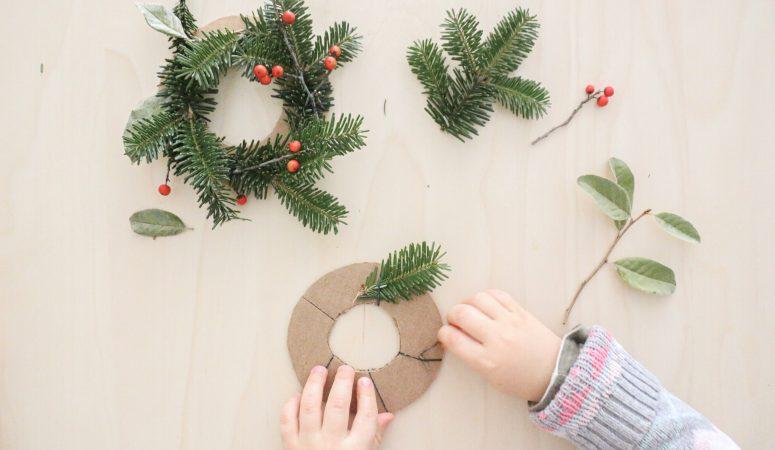 Mini Christmas Wreath Craft