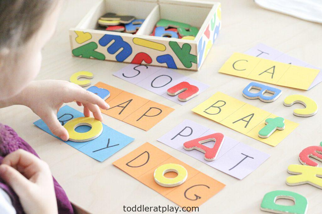find the missing letters- toddler at play (6)