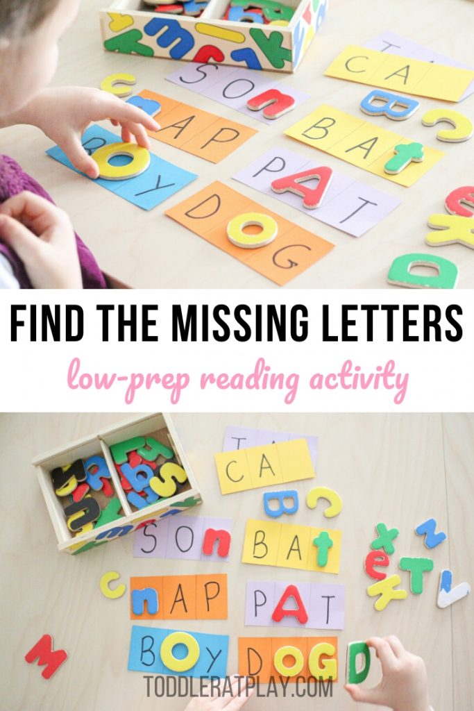 find the missing letters- toddler at play (7)