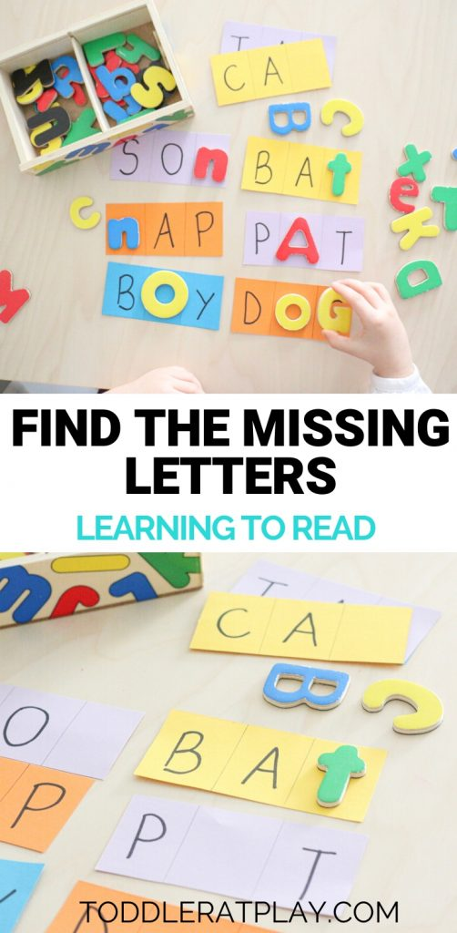 find the missing letters- toddler at play (8)