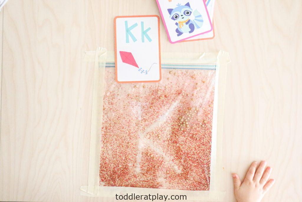 glitter sensory writing pad- toddler at play (13)