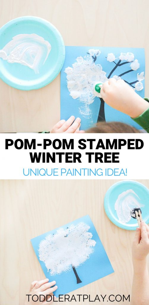 pom-pom stamped winter tree- toddler at play (16)