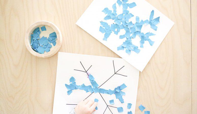 Torn Paper Snowflake Craft
