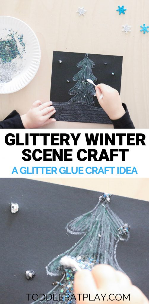 glittery winter scene craft- todder at play (10)