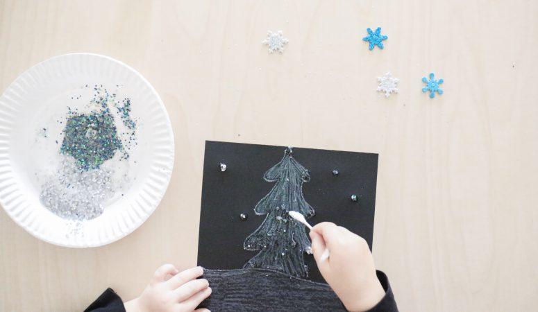 Glittery Winter Scene Craft