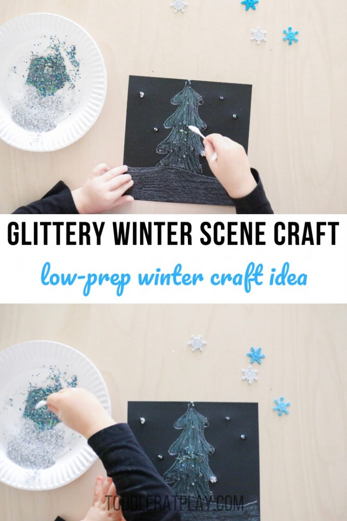 glittery winter scene craft- todder at play (9)