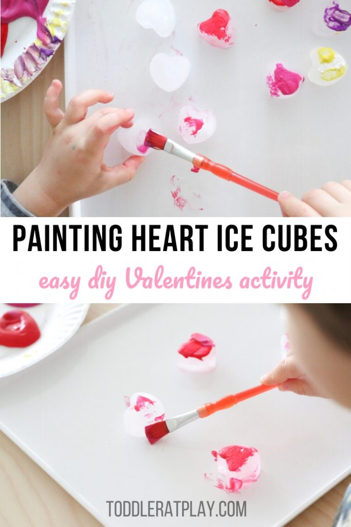 painting heart ice cubes- toddler at play (1)